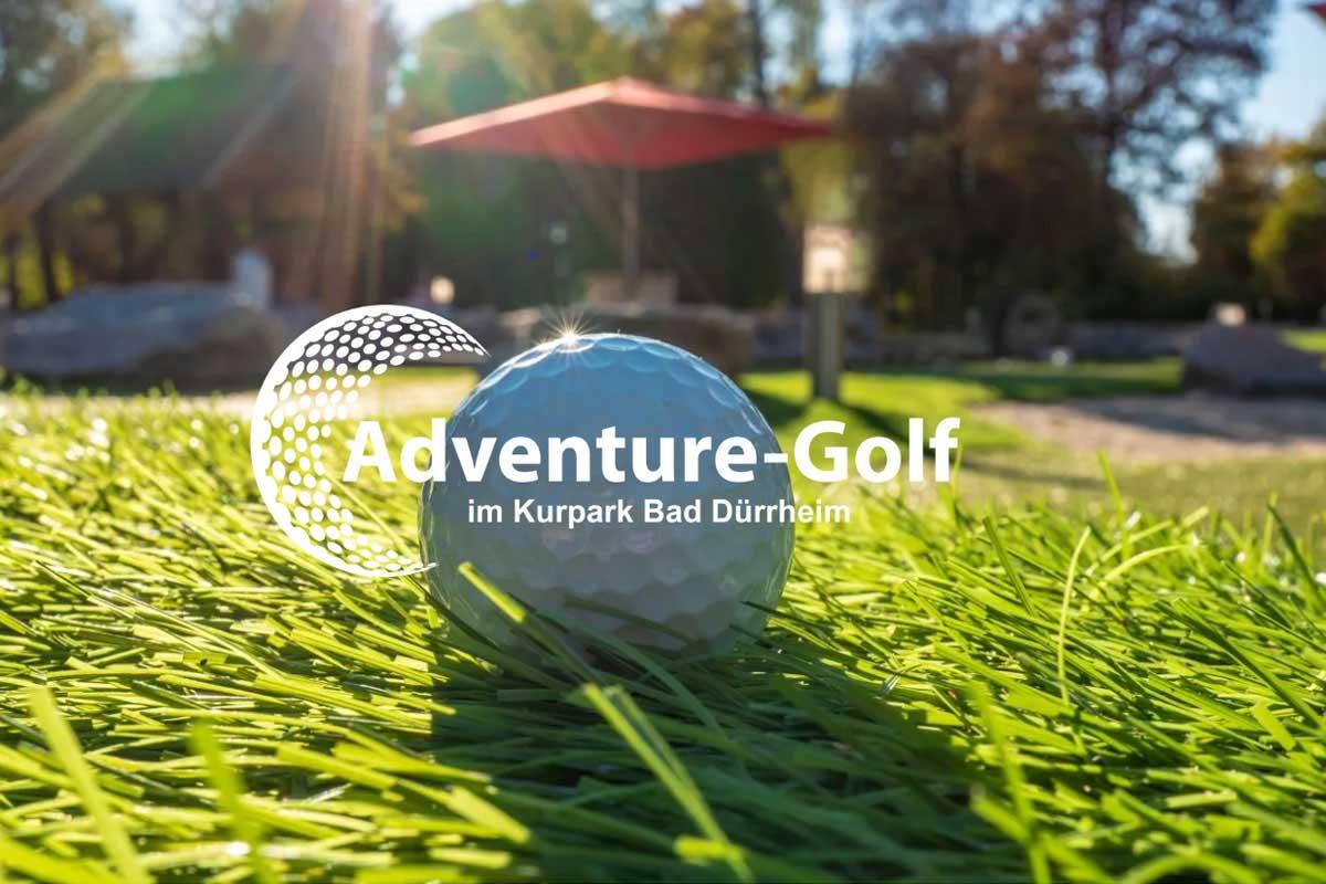 Adventure Golf Anlage im Kurpark Bad Dürrheim | Foto Screenshot der Homepage