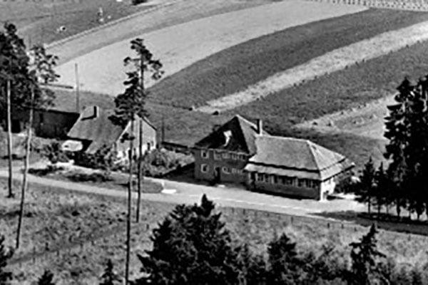 Historische Bild vom Waldcafé